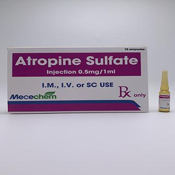 Atropine Injection 0.5mg/1ml, 1mg/1ml