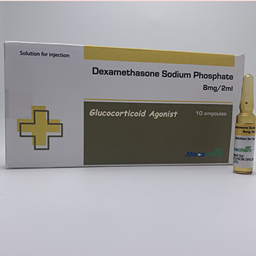 Dexamethasone Sodium Phosphate Injection 4mg/ml, 1ml & 2ml