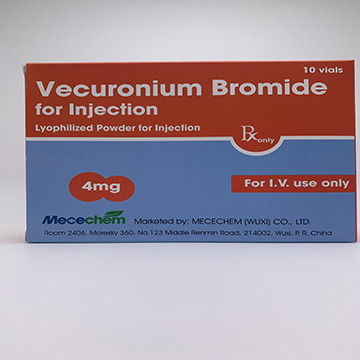 Vecuronium Bromide for Injection 4mg, 10mg, 20mg