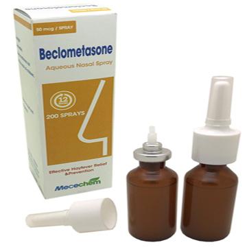 Beclomethasone Dipropionate Nasal Aerosol 50mcg/dose, 200 doses