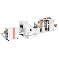 RZFD-190 roll feeding square bottom paper bag machine with2/4colors printing machine