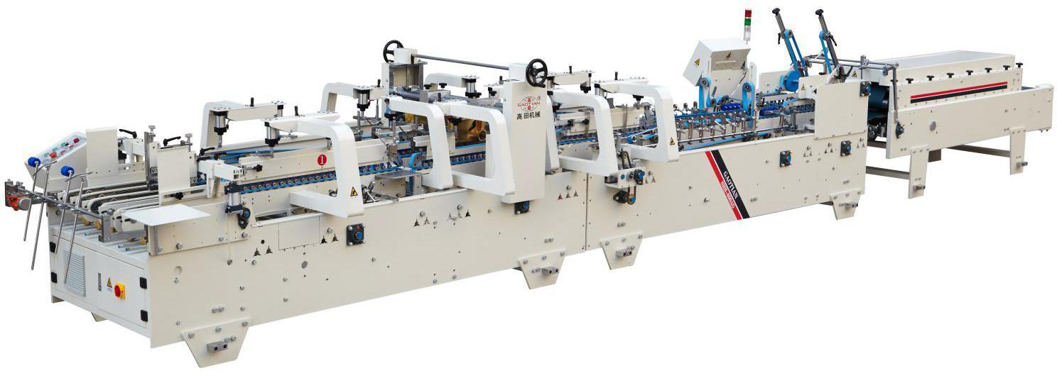 Auto Pre-fold & Lock Bottom Folder Gluer Machine Model SHH-600/800AG