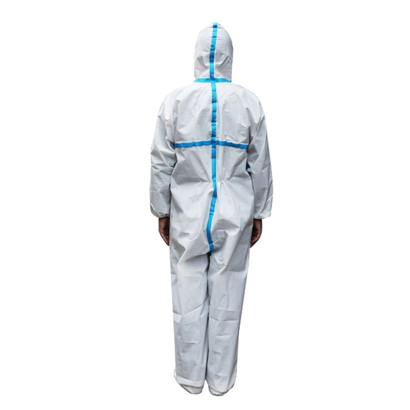 Full body protection chemical disposable nonwoven protective suit clothing
