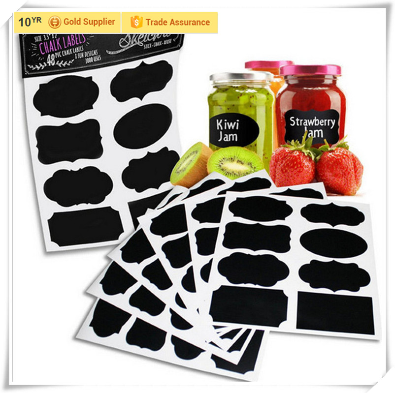 PP chalkboard sticker chalkboard labels for Kitchen bottles