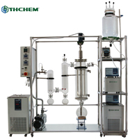 High evaporation rate thin wiped film evaporator solvent distillation machine