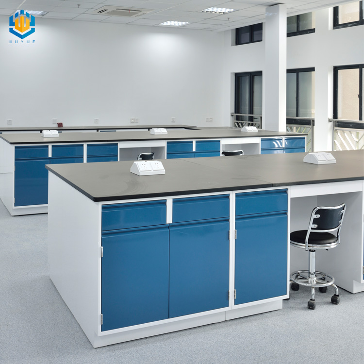 Laboratory furniture metal steel island bench