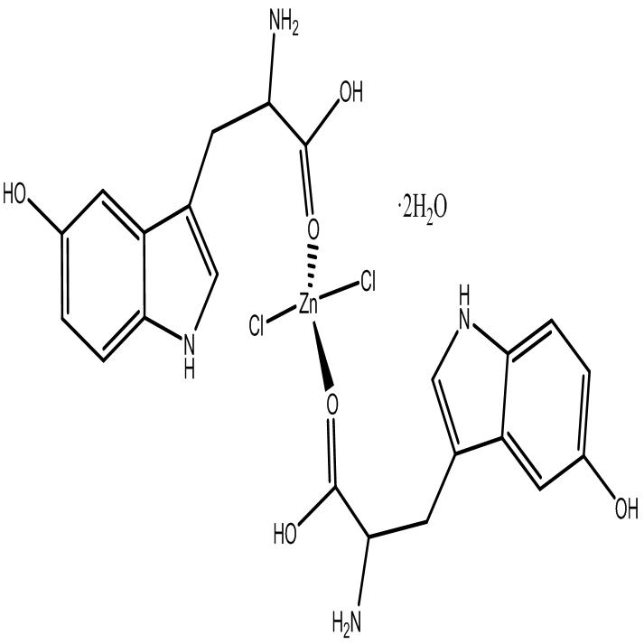 [Zn(L-5-HTP)2Cl2]2H2O Coordination compounds of Zinc(ll) with L-5-hydroxytryptophan , C22H28N4O8Cl2Z