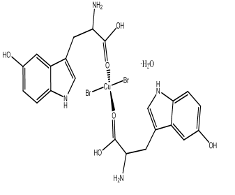 [Cu(L-5-HTP)2Br2]H2O Coordination compounds of copper(II) with L-5-hydroxytryptophan