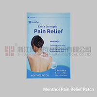 Menthol pain relief gel patch
