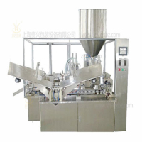 Within the automatic heating tube filling and sealing machine