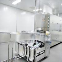 Rotary ultrasonic bottle washing machine