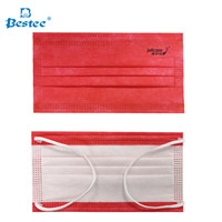 Red Disposable Medical Mask with Logo