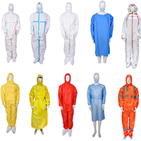 isolation gown and protective clothing
