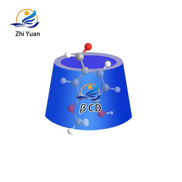 Water soluble vanillin inclusion complex