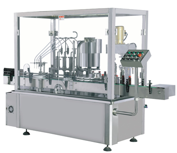 Automatic juice water oil liquid filling and capping machine