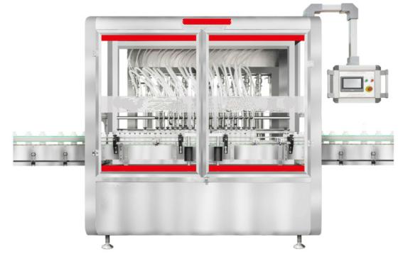 Automatic 12-heads juice oil liquid filling machine