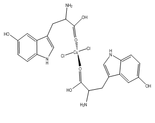 [Cu(L-5-HTP)2Cl2] Coordination compounds of copper(ll) with L-5-hydroxytryptophan,C22H24N4O6Cl2Cu