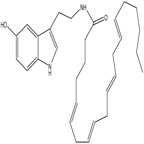N-Arachidonoyl serotonin,AA-5HT,CAS:187947-37-1