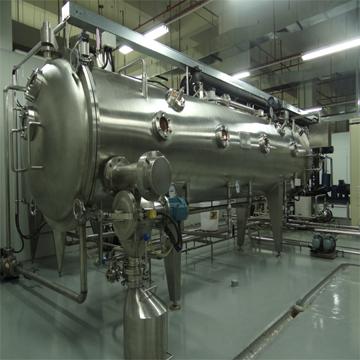 The vacuum continuous belt drier in low temperature