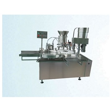 Automatic bottle filling stoppering capping machine