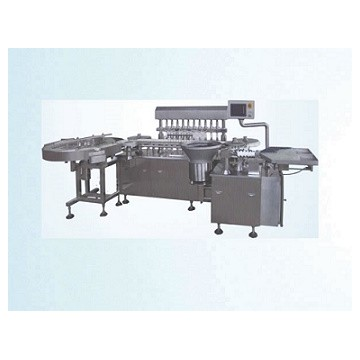 Fully automatic liquid filling stoppering machine