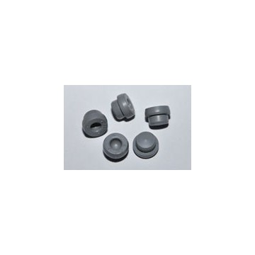 Butyl rubber stoppers for vacuum blood collectors