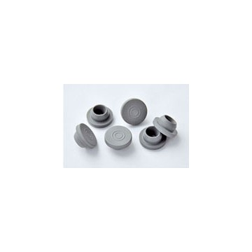 Halogenated butyl rubber stopper for injection powder