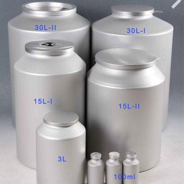 Pharmaceutical API powder packaging aluminum bottles
