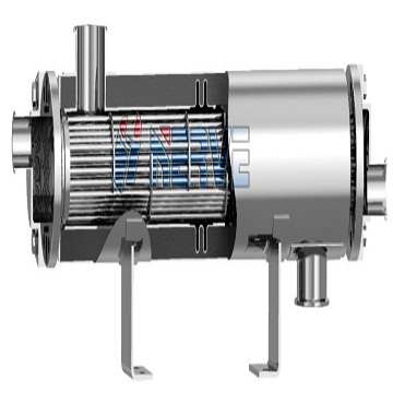 Z- single - flow aseptic level - through dual - tube plate heat exchanger
