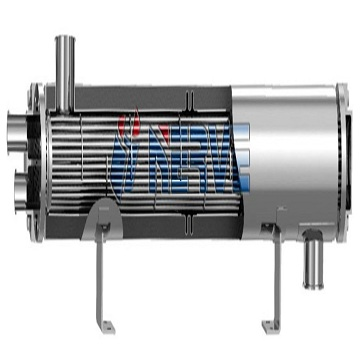 Z- double - flow aseptic - level straight - through dual - tube plate heat exchanger