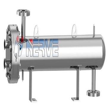 U-double flow aseptic u-type dual tube plate heat exchanger