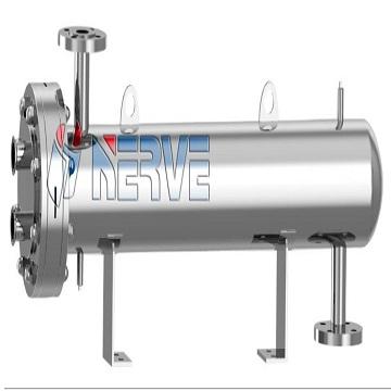 U-4 flow sterilized u-type dual tube plate heat exchanger