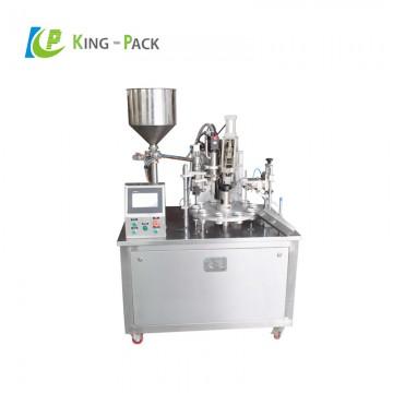 Semi automatic ointment tube filling sealing machine