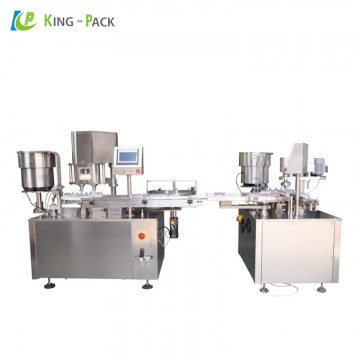 Medical glass vial filling and capping machine