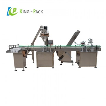 Powder vial filling capping line