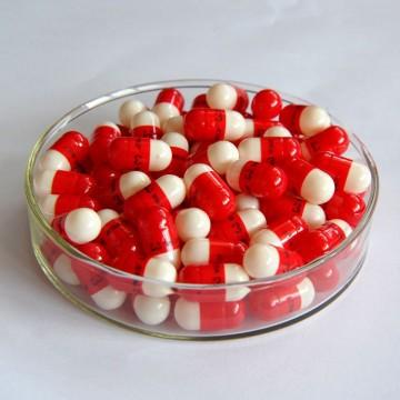 00#B red/white empty capsule