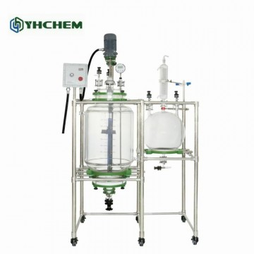 YFR-50L JACKETED GLASS CRYSTALLIZATION FILTER REACTOR, 10-50L QUICK OVERVIEW