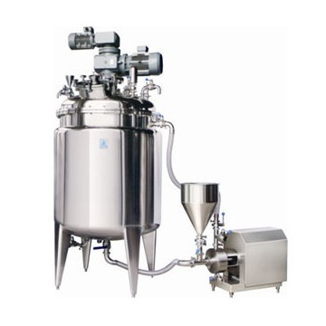 jacket mixing tank with inline homogenizer