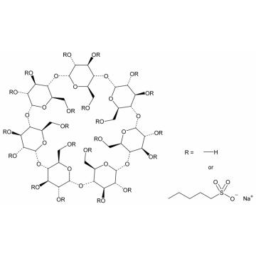 sulfobutylether beta cyclodextrin sodium