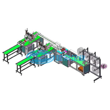 High Speed Ear Belt Type Automatic Surgical Mask Manufacturing Machine